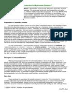 Intro Multivariate Analysis