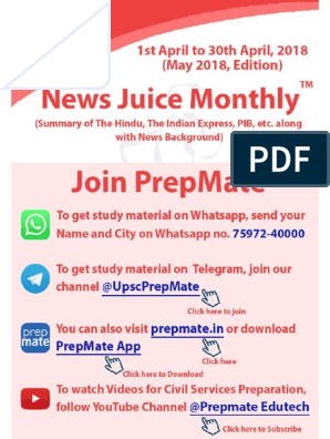 News Juice Monthly May Edition 2018 | Supreme Court Of India