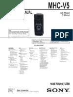 Sony Mhc-V5 Ver.1.0