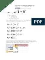 Fórmula Para Calcular El Interés Compuesto