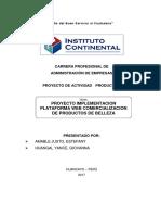 Proyecto Implementacion Plataforma Web Comercializacion de Productos de Belleza