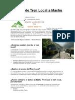 Servicio de Tren Local a Machu Picchu.docx