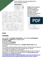 Clase N°4 de cristalografia y mineralogia para operaciones mineras