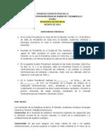CONVENIO CONSTITUTIVO DE LA COMISIÓN CENTROAMERICANA DE AMBIENTE Y DESARROLLO (CCAD)