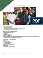 Budget 2018-19 Analysis