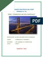 TRABAJO GRUPAL  - CINEMATICA DE UNA PARTICULA - GLORY.docx