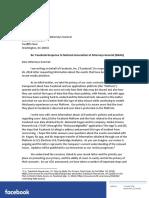 Facebook Response Naag Letter PDF