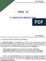 Tema 13 - El Objeto Del Proceso