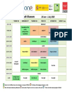 Draft Timetable OMG Youth Museum