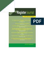 Register Journal Salatiga Vol 8 No 2 (2015)