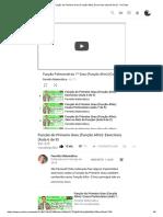Função Do Primeiro Grau (Função Afim)_ Exercícios (Aula 6 de 9) - YouTube