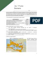 Teste História 7 Roma