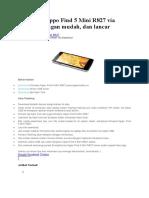 Cara Flash Oppo Find 5 Mini R827 via Flashtool Dengan Mudah