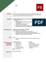 resume template - google docs