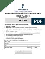 Inglés Avanzado-B2 Comprensión Oral. Prueba