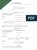 Fonctions a Deux Variables Correction