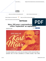 Marx, 200 Anos