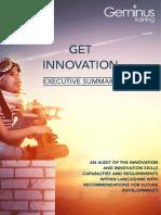 Get Innovation - 2018 Geminus Training Exec Summary