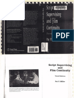 Pat P Miller Script Supervising and Film Continuity, Third Edition