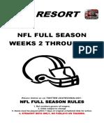 2018 NFL Lines Weeks 2-16