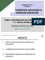 Tema 2 Distribución de Frecuencias