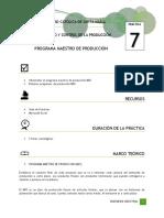 PRÁCTICA N°7_Programa Maestro de Producción