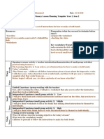 first lesson plan template