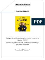 AEE Transcripts Episodes 490 493