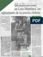 Falleció Juan Luis Martínez un adelantado de la poesía chilena