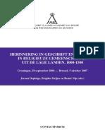 Herinnering in Geschrift en Praktijk in Religieuze Gemeenschappen in de Lage Landen 1000-1500