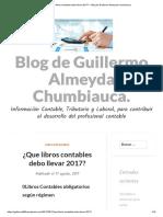 ¿Que Libros Contables Debo Llevar 2017_ – Blog de Guillermo Almeyda Chumbiauca