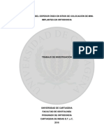 Evaluación Del Espesor Oseo en Sitios de Colocación de Miniimplantes en Ortodoncia