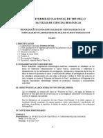 Silabo Laboratorio de Análisis Clinico y Biológicos Ayacucho Desarrollado