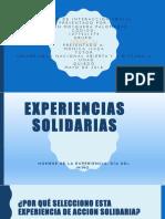 Experiencias Solidarias Catedra Power Paint