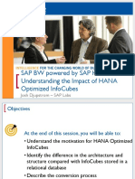 0404 SAP BW Powered by HANA Understanding the Impact of in-Memory Optimized Infocubes