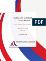 Nuclear Arms Control and U.S.-Russia Relations