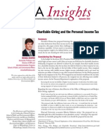 Charitable Giving and the Personal Income Tax