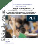 Nota de Prensa-Gasto Concertada- Cadena SER