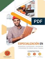 Especialización en Residencia, Supervisión, Liquidación y Seguridad en Obras (Teórico-Práctico)-12 de Mayo