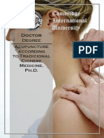 Acupuncture Accordind Traditional PhD