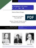 Curva Elipticas son Modulares- Conjetura Taniyama-Shimura- Ultima Teoria de Fermat.pdf