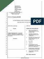 Complaint - Jane Doe vs. Chris Brown & Lowell Grissom