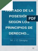 Savigny-Tratado de La Posesión Según Los Principios Del Derecho Romano
