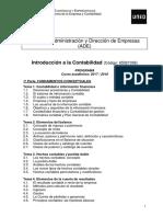Programa Introducción a La Contabilidad. Curso 2017-2018