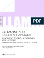 Pico Della Mirandola -Discurso sobre la dignidad del Hombre.pdf