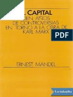 El Capital, Cien Anos de Controversias e - Ernest Mandel