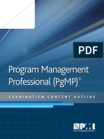 Program Management Professional Examination Content Outline