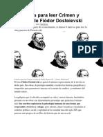 6 Motivos Para Leer Crimen y Castigo de Fiódor Dostoievski