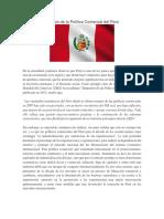 Análisis de La Política Comercial Del Perú ANGELA