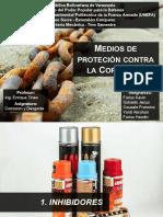 CORROSIÓN Medios de Proteción Contra La Corrosión DIAP